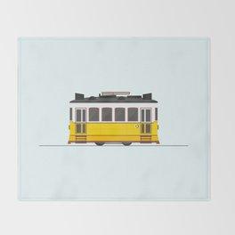 Lisbon 28 Tram Throw Blanket