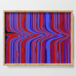 red and blue flowing Serving Tray
