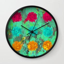 Lysergic Daisies Wall Clock
