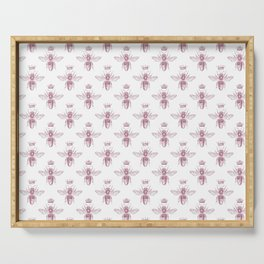 Pink Queen Bee Pattern Serving Tray