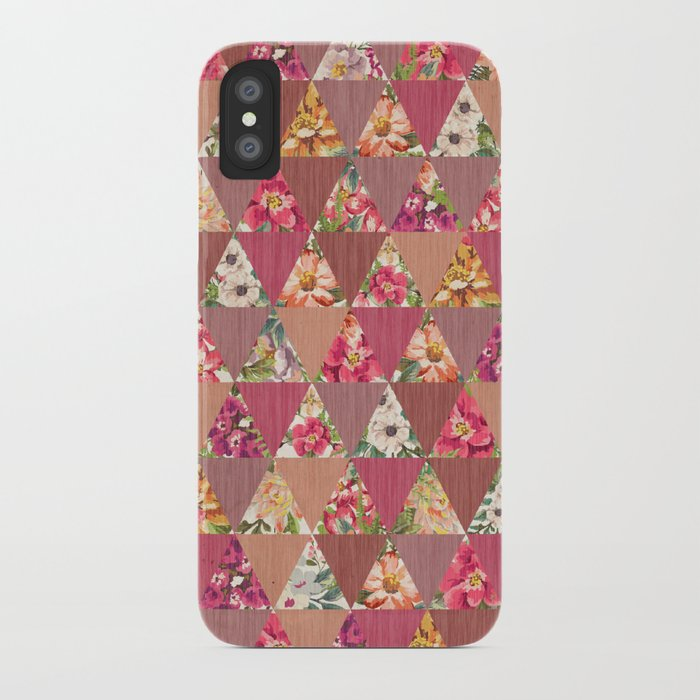 GEOMETRIC MODERN FLOWERS iPhone Case