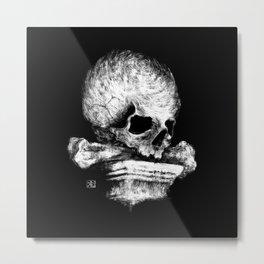Skull on Pedestal Metal Print