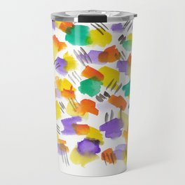 180803 August Abstract 3 | Colorful Abstract | Watercolors Brush Patterns Travel Mug