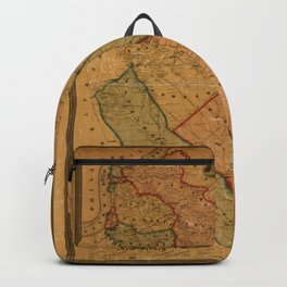 Map Of Camden 1857 Backpack