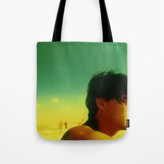 Asian Green and Yellow Tote Bag