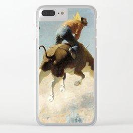 "William Leigh Western Art ""A Wild Texas Steer"" Clear iPhone Case"