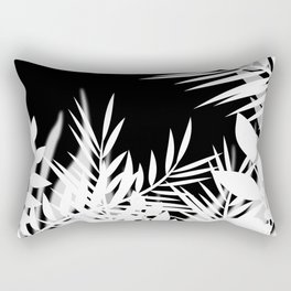 The leaves and berries. Black and white pattern . Rectangular Pillow