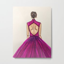 Pink Tulle (Zoomed) Metal Print