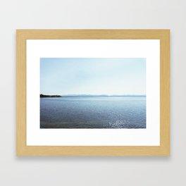 yellowstone lake ii Framed Art Print