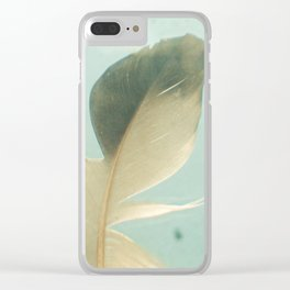 Grey Feather Clear iPhone Case