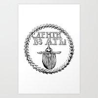 Russian Beard Token Art Print