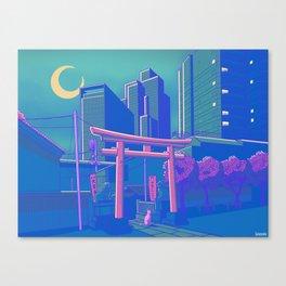 Neon Moon Canvas Print