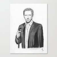 house md Canvas Prints featuring House MD by Adam Tupper