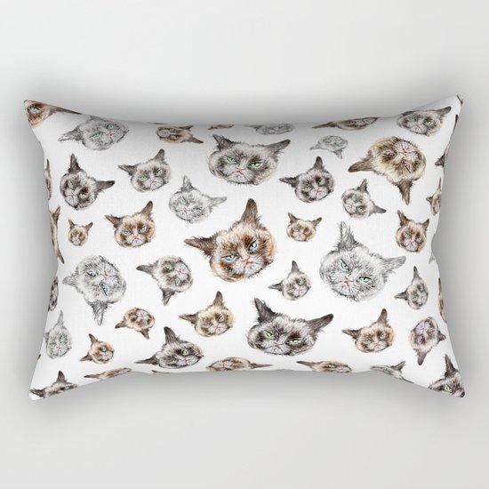 Cat Power on White Rectangular Pillow