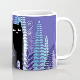 The Ferns (Black Cat Version) Coffee Mug