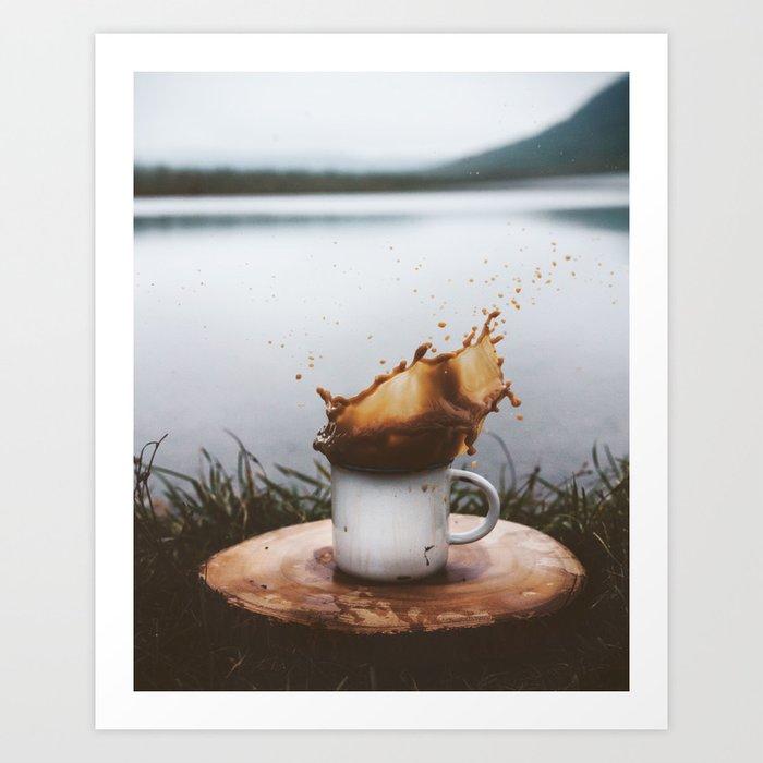 Splash of Coffee Art Print