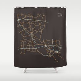 Louisiana Highways Shower Curtain