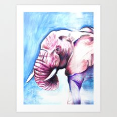 Tickled Pink Art Print