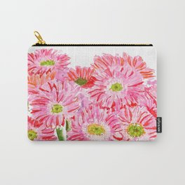 Pink Gerbera Daisy watercolor Carry-All Pouch