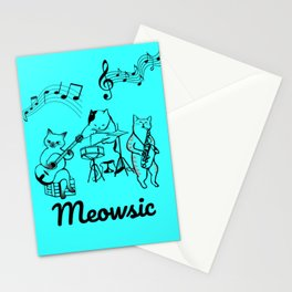 Meowsic is awesome Stationery Cards
