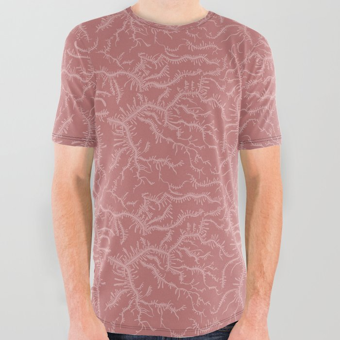 Ferning - Dusty Rose All Over Graphic Tee