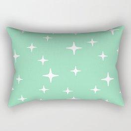 Mid Century Modern Star Pattern 443 Mint Green Rectangular Pillow