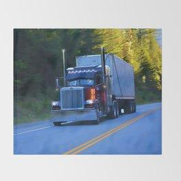 The Revelstoke Run Cargo Truck Throw Blanket