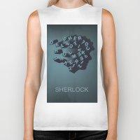 sherlock holmes Biker Tanks featuring Sherlock Holmes by HomePosters