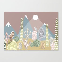 Cactus Valley Canvas Print