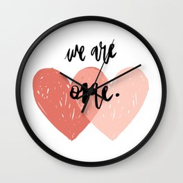 Soul mates hearts Wall Clock