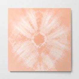 Tie Dye Peach Metal Print