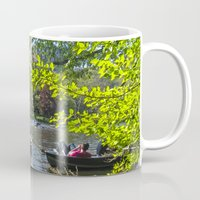 rowing Mugs featuring Rowing at Central Park, NYC by Martha Washington