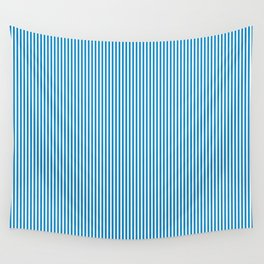 Blue Pinstripes Wall Tapestry