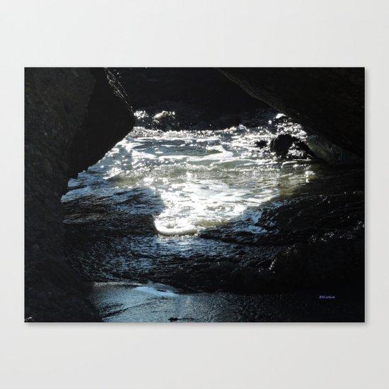 Laguna Beach Surf on the Rocks #1 Canvas Print