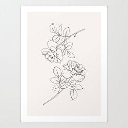 Roses illustration - Delia I Art Print