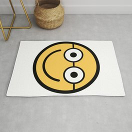 Smiley Face   Happy Smiling Geek Glasses face Rug