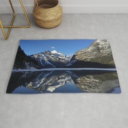 Robson: Reflection with Whitehorn Mountain Rug