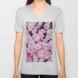 A Sea of Light Pink Chrysanthemums #1 #floral #art #Society6 Unisex V-Neck