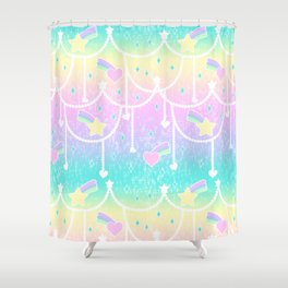 Beads and Stickers Shower Curtain