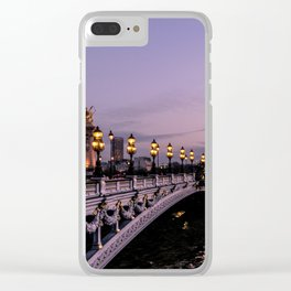 Nights in Paris Clear iPhone Case