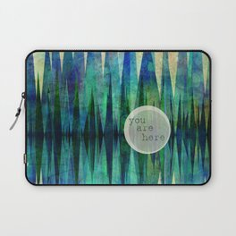 Here abstract art by Ann Powell Laptop Sleeve