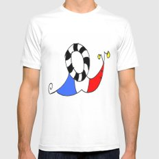 French snail II MEDIUM White Mens Fitted Tee