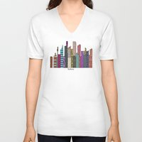 sydney V-neck T-shirts featuring Sydney skyline by bri.buckley