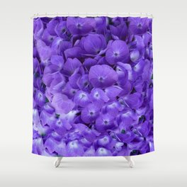 Amethyst  Hydrangea Flowers Garden Art Shower Curtain
