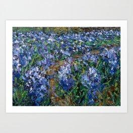 Coates' Barn Blue Bells Art Print
