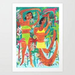 Dance moves Art Print