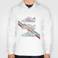 sneakers Hoodies featuring My old Sneakers by Crazy Cool Animals
