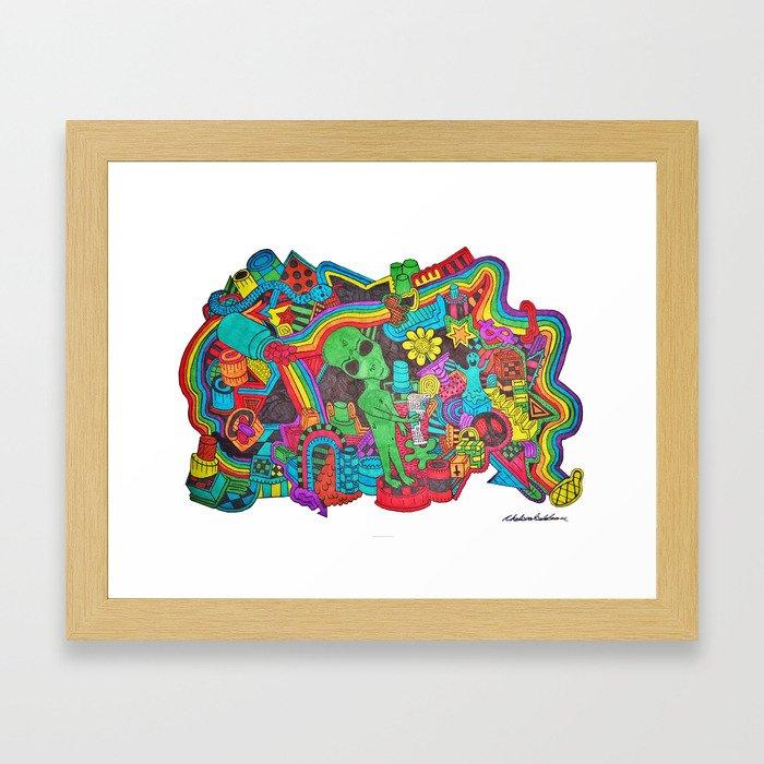 Watch Out Framed Art Print