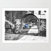 manchester Art Prints featuring Manchester Graffiti  by John Shepherd Photography