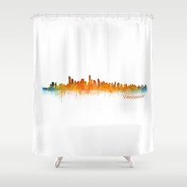 Vancouver Canada City Skyline Hq v02 Shower Curtain